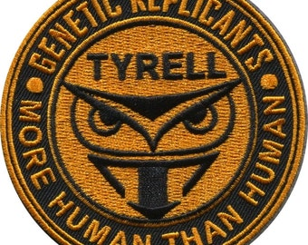 Blade Runner Tyrell Corp patch- Genetic Replicans Iron on