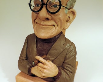 George Burns with Cigar Original Sculpture