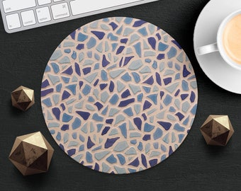 Mouse Pad Round Mousepad Purple Marble Print Mouse Mat Mouse Pad Idea Gift Office Mousemat Rectangular Mousemat Turkish Tile Print Mousepad