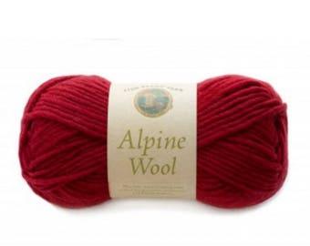 Lion Brand Yarn - Alpine Wool - Chili (Red) (115)