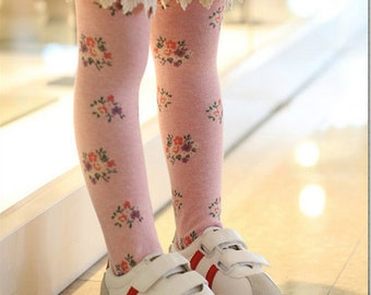 Girl's tube socks with lace- Pink (3 to 10 years)