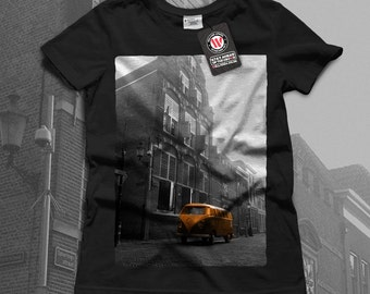 Volkswagen Car Hippie Automobile Women Black White Grey Red Royal Blue T-shirt S-2XL NEW | Wellcoda *q471