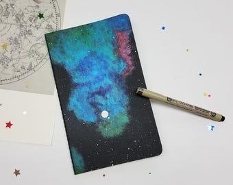 Moleskine Space Painted Sketchbook Journal Stars Nebula Galaxy