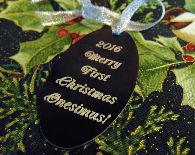 Christmas Ornament, Custom Personalized Ornament, Portrait, Handwriting, personal message Christmas Present