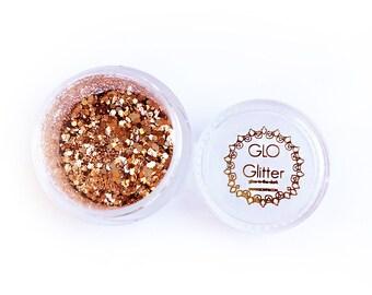 Glow in the Dark Glitter - Rusty Rose Gold by GLO TATTS
