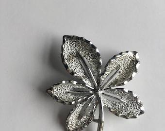 Vintage Brooch Silver Sarah Cov
