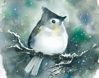 Bird watercolor painting art print