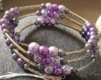 Bridal Memory Coil Bracelets