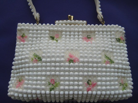 Flowers and Beads Pretty Lucite Bag