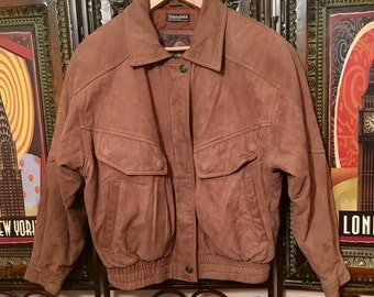 Free shipping vtg Wilson Thinsulate leather bomber jacket Men's small