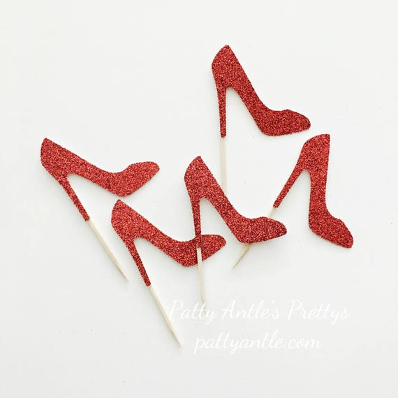 items similar to glitter high heel shoes cupcake toppers