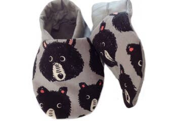 Teddy Bear Soft Sole Baby Shoes, booties, pram shoes
