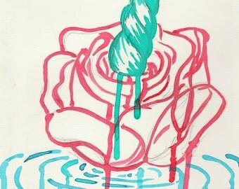 Uni-Rose Watercolor