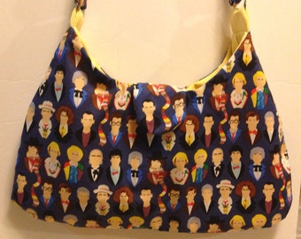 Doctor Who Handbag-Many Faces of the Doctor