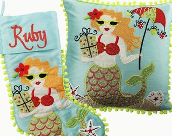 Mermaid Stocking and Cushion Pack