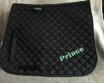 Personalised Saddle Pad (Personalized, numnah, horse, pony, riding, cross country, horses)