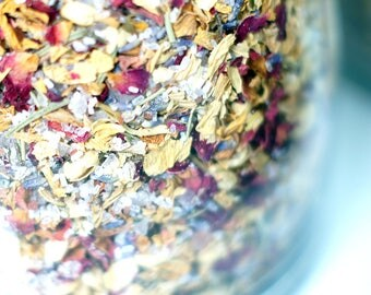 Wicca Psychic Visions Bath Salts, Bath Tea for Divination, Meditation, Relaxation, Witchcraft Tool for Spell Work, Ritual