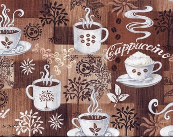 Coffee Brown Cappuccino Valance Curtain
