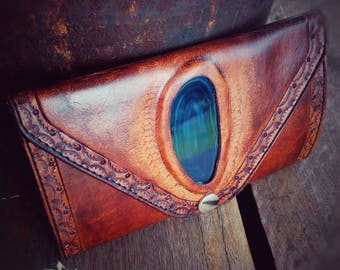 On ***SALE***Exquisite Hand made women's Leather wallet purse clutch Ready to go