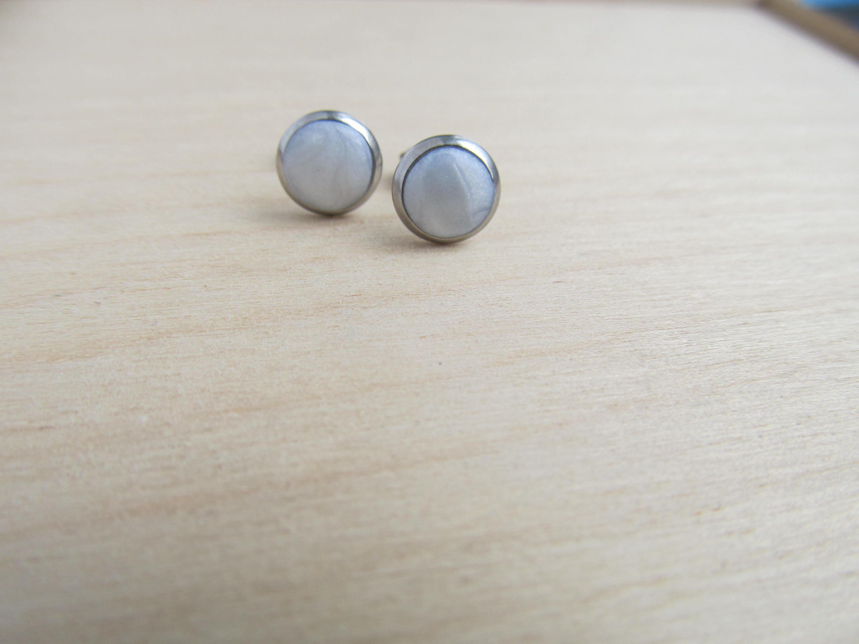 surgical studs steel stud women earrings bone brand high trendy men in ball item fhjewe from polished buttons pirecing jewelry ear