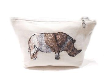 Rhino Cosmetic Bag, Rhino Makeup Bag, Rhino Pencil Pouch