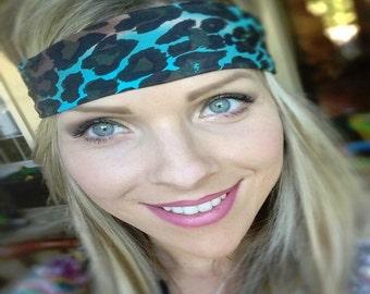 Quick ~ #427 Leopard Headband, Cheetah Headband, Running Headband, Headband, Hippie Runner, Hippie Headband, Animal Print, Animal Headband