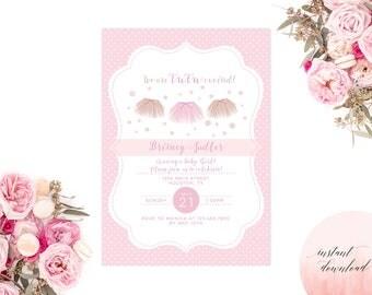 baby shower invitation girl baby shower invitation tutu baby shower printable invitation tutu