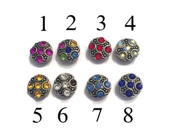 Mini Snaps, 12mm Petite Snap Buttons -Petite Snap Charms- 12mm Snap Buttons for Snap Necklaces Snap Bracelets- 12mm Snap Charms