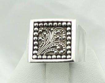 "Ride Like the Wind! Solid Sterling Silver Designer ""Wind"" Ring #WIND-SR4"