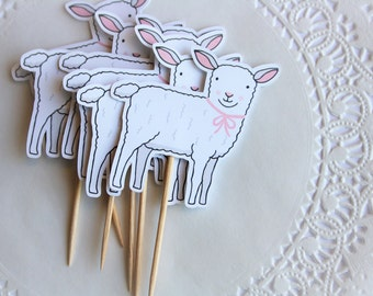 Little Lamb Cupcake Toppers. New baby. Baby Shower Cupcake Toppers. Little Lamb Theme. Farm Animals. Farm Theme. Barn Yard Bash. Sheep. Cute