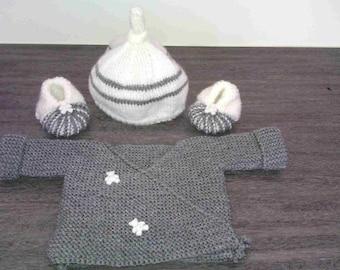 set top hat booties 0/3 months