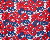 Vintage red blue white la...