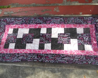 Breast Cancer Support Mini Quilt