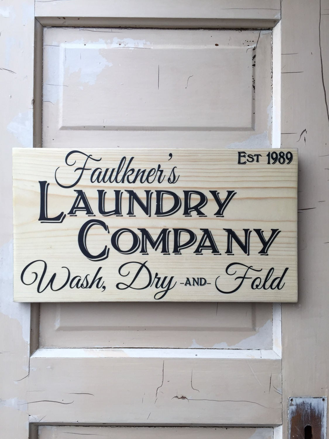 Rustic Laundry Room Signs Laundry Sign Personalized Farm House Laundry Sign Vintage Rustic
