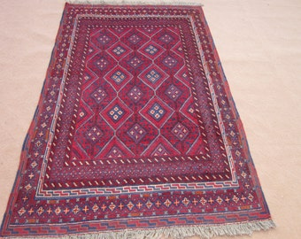 Size:6.9 ft by 4.4 ft Handmade Kilim/Carpet Afghan Tribal Mishwani Rug/Kilim