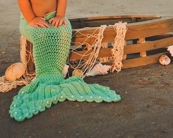 Crochet mermaid tail ONLY, Crochet mermaid tail for photo prop, MERMAID TAIL for girls, Little mermaid costume, Baby mermaid costume