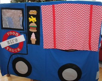 Made to order Food Truck Tablecloth fort playhouse custom made to fit your dining table