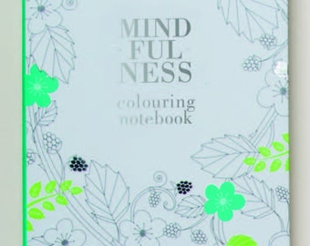 Mindfulness Colouring A5 Notebook, Adult relaxation Coloring Journal book  Colouring Notebook book for Adults, Soothing coloring Journal