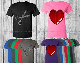 Cut My Heart Out - Matching Couple Shirts - His and Her T-Shirts - Love Tees