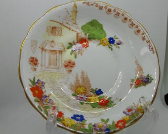 Grafton china Clovelly saucer, vintage china replacement saucer