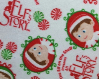 The Elf on the Shelf, An Elf's Story Fleece Fabric BTY