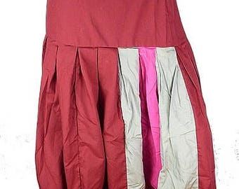 SKIRT large size maxi Burgundy skirt, cotton long skirt, size 48 to 58