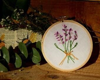 "4"" Lavender Bundle Embroidery"
