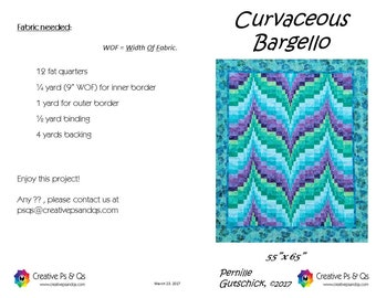 Curvaceous Bargello - Quilting Pattern