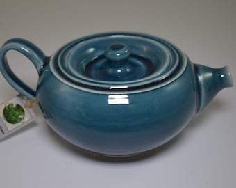 Personal Small Porcelain Teapot - Hand Thrown
