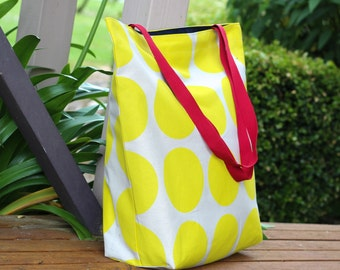 Yellow Spot Canvas Tote Bag