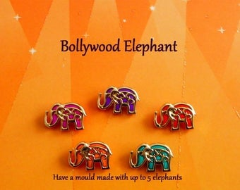 Bollywood Elephant Silicone Mold Cake Tool Fondant Chocolate Candy DIY Cupcake Topper Cake Decoration Polymer Clay Craft Ornament