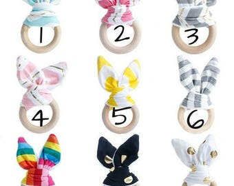 teething ring baby wooden - your choice