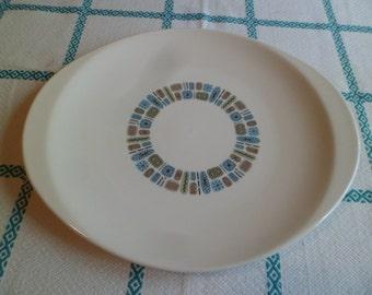 "Vintage Mid Century Canonsburg Temporama Atomic Large 13-1/2"" Serving Platter"