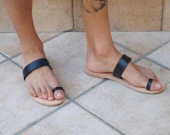mens toe ring sandals, genuine leather  colour options, Gladiator Roman Greek sandals